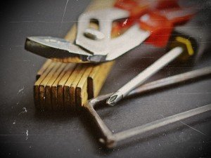 Zubehör und Werkzeug einer Kappsäge