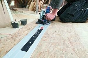 Bosch Professional Tauchsäge GKT 55 GCE, Kreissägeblatt Best for Wood, 1400 Watt-Motor,